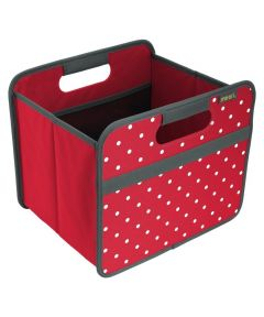 Classic Small Foldable Storage Box Hibiscus Red with Dots
