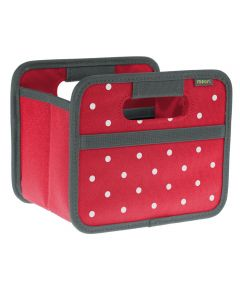 Classic Mini Foldable Storage Box in Hibiscus Red with Dots