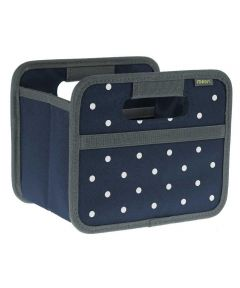 Classic Mini Foldable Storage Box in Marine Blue with Dots