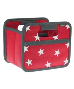 Classic Mini Foldable Storage Box in Hibiscus Red with Stars