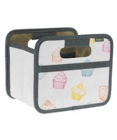 Classic Mini Foldable Storage Box in Pink Berry with Cupcakes