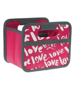 Classic Mini Foldable Storage Box in Pink Berry with Love