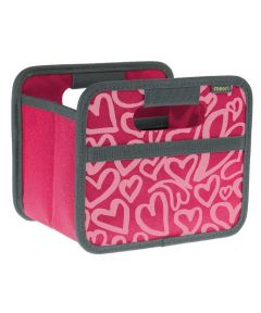Classic Mini Foldable Storage Box in Pink Berry with Hearts