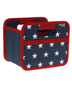 Classic Mini Foldable Storage Box in Marine Blue with Stars and Stripes