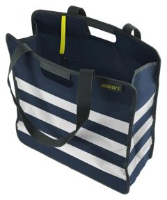 Large Essential Tote in Marine Blue with Stripes