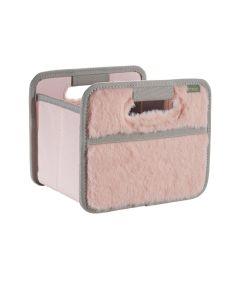 Classic Mini Foldable Storage Box in Solid Dream Rose Plush