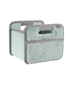 Classic Mini Foldable Storage Box in Solid Candy Mint Plush