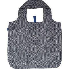 Zebra Blu Bag Reusable Shopping Bag with Storage Pouch