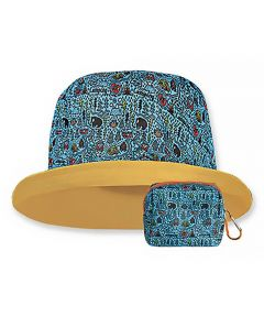 Floppy Top Little Sun/Rain Kids Hat with 50+ UV Protection, Camping Design