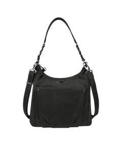 Anti-Theft Parkview Hobo Crossbody Bag, Black