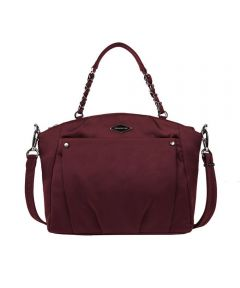 Anti-Theft Satchel Crossbody Bag, Wine