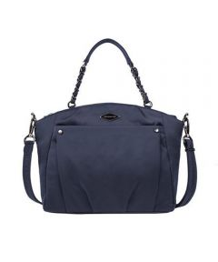 Anti-Theft Satchel Crossbody Bag, Navy