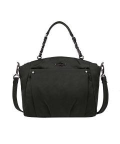 Anti-Theft Satchel Crossbody Bag, Black