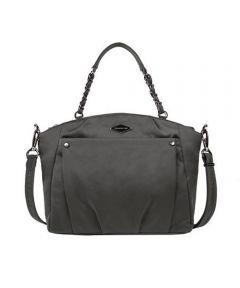 Anti-Theft Satchel Crossbody Bag, Pearl Gray