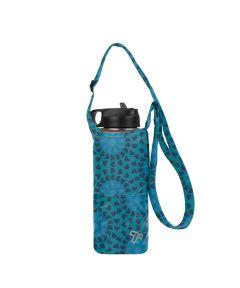 Packable Water Bottle Tote, Mosaic Tile Design
