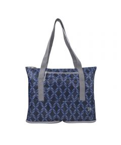 Folding Packable Tote, Rope Weave Design