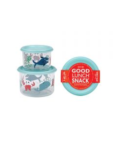 ORE' SUGARBOOGER Ocean Good Lunch Snack Containers, Small Set of 2