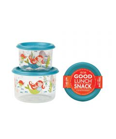 ORE' SUGARBOOGER Isla the Mermaid Good Lunch Snack Containers, Small Set of 2