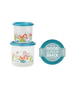 ORE' SUGARBOOGER Isla the Mermaid Good Lunch Snack Containers, Large Set of 2
