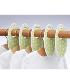ORE' SUGARBOOGER Children's Closet Rod Dividers, Green Dots
