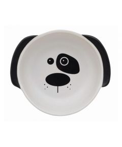 ORE' PET Scruffy the Dog Bowl White