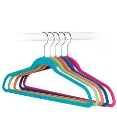 Flocked Suit Hangers in Assorted Colors, 5 Count