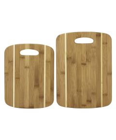 Totally Bamboo 2-Piece Striped Bamboo Cutting Board Set