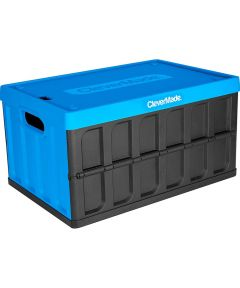 CleverCrates Collapsible 46 Liter Utility Crate with Lid