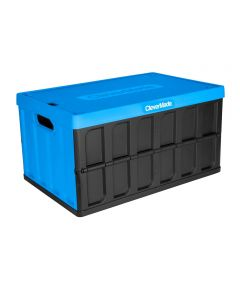 Collapsible 62 Liter Utility Crate with Lid
