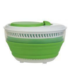 3 Quart Green Collapsible Salad Spinner