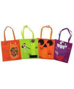 Halloween Trick or Treat Candy Bag with Window, Assorted Designs