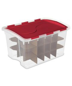 Sterilite 48 Quart Hinged Lid Ornament Storage Box