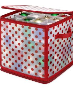 Whitmor Zip Cube Christmas Ornament Organizer with 64 Compartments