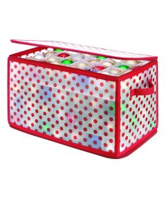 Whitmor Zip Chest Christmas Ornament Organizer with 112 Compartments