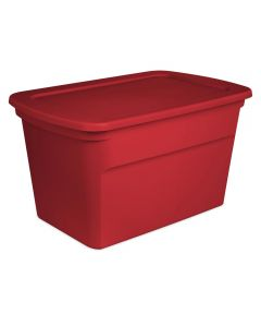 Sterilite 30 Gallon Holiday Storage Tote, Rocket Red