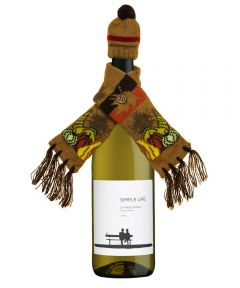 Harvest Wine Bottle Beanie and Scarf Set, Assorted Designs
