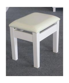 Vanity Dressing Stool, White