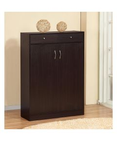 Shoe Cabinet with Doors / 2 Drawers / 5 Shelves, Red Cocoa
