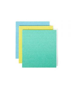 SQUEEZE Cellulose Sponge Cloths, 3 Pack