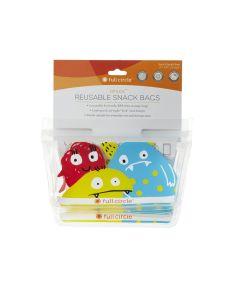 ZIPTUCK KIDS Reusable Snack Bags, Monster