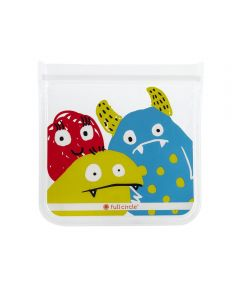 ZIPTUCK KIDS Reusable Sandwich Bags, Monster