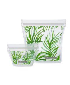 ZIPTUCK Reusable Travel Set, Palm Leaves