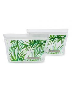ZIPTUCK Reusable Snack Bags, Palm Leaves