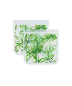 ZIPTUCK Reusable Sandwich Bags, Palm Leaves