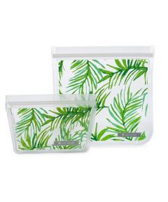 ZIPTUCK Reusable Lunch Bags, Palm Leaves