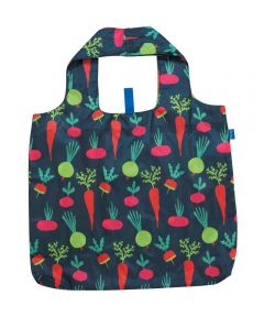 Root Veggies Blu Bag Reusable Shopping Bag with Storage Pouch