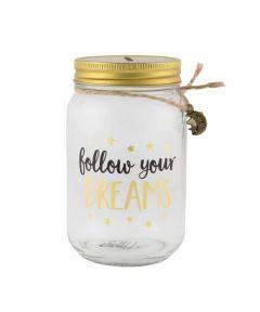 Follow Your Dreams Money Jar