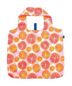 Citrus Blu Bag Reusable Shopping Bag with Storage Pouch
