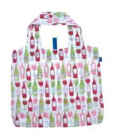 Wine Blu Bag Reusable Shopping Bag with Storage Pouch