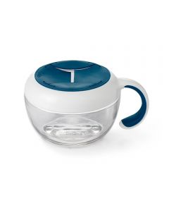 OXO Tot Flippy Snack Cup with Travel Cover, Navy